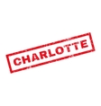 Charlotte Rubber Stamp vector image