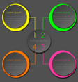 colorful neon infographic circle design vector image vector image
