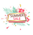 banner for summer sale vector image vector image