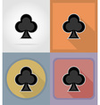 casino flat icons 06 vector image