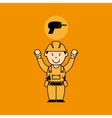 avatar man construction worker with drill tool vector image