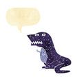 cartoon dinosaur with speech bubble vector image