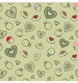 Diamond rings heart patterns vector image