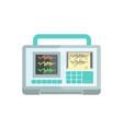 ecg machine medical equipment vector image