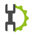 gears settings vector image