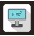 Monitor with the Theory of Relativity formula icon vector image
