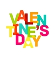 Multicolor Valentines Day banner Bright text vector image