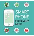 phone mockup with location pin icon camera icon vector image