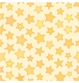 Seamless flat stars with outline patten yellow vector image