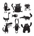 set of cartoon cute monsters vector image