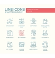 Smart Technology- line design icons set vector image