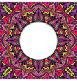 Colorful ornamental frame vector image