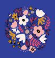 hand drawn fantasy flowers vector image