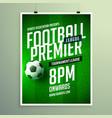 soccer league flyer design sports invitation vector image