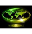world abstract shine green vector image vector image