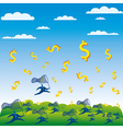 catch the money concept vector image