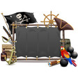 Pirate Frame with Sail vector image
