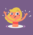 Cute Girl Playing in Pool vector image