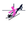 Isometric toy helicopter vector image vector image