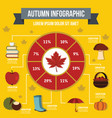 autumn infographic concept flat style vector image