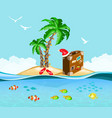 christmas on a tropical island travel concept vector image