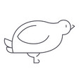 dovequail line icon sign on vector image