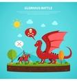 Dragon knight legend flat vector image