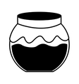 fruit conserve in jar icon vector image