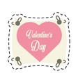 greeting i love you heart arrow ribbon cut line vector image