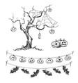 halloween drawings vector image