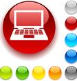 Notebook button vector image