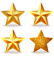 Set of shiny golden stars vector image