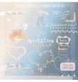 Set of Wedding or Valentines Design Elements vector image