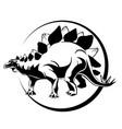 silhouette of mascara dinosaur stigosaurus vector image
