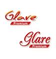 Text Logo Glare premium vector image