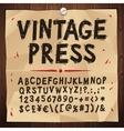 Vintage Press Font vector image