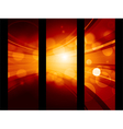 abstract glowing banner background vector image vector image