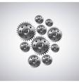 gears machine settings icon vector image