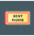 flat style of Best movie shining retro light vector image