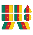 buttons with flag of Cameroon vector image
