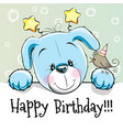 birthday card with puppy vector image