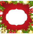 Christmas Background With Label And Ribbon vector image