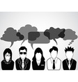 People communication with speech bubbles vector image