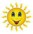 Happy smiling sun vector image