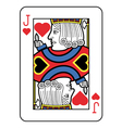 Stylized Jack of Hearts vector image vector image