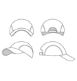 Baseball tennis cap outlined template vector image vector image