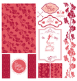 wedding set pink 380 vector image vector image