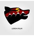 Pofessional wolf logo vector image