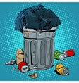 trash tin cans ecology recycling vector image