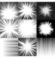 Comic book speed horizontal lines background set vector image